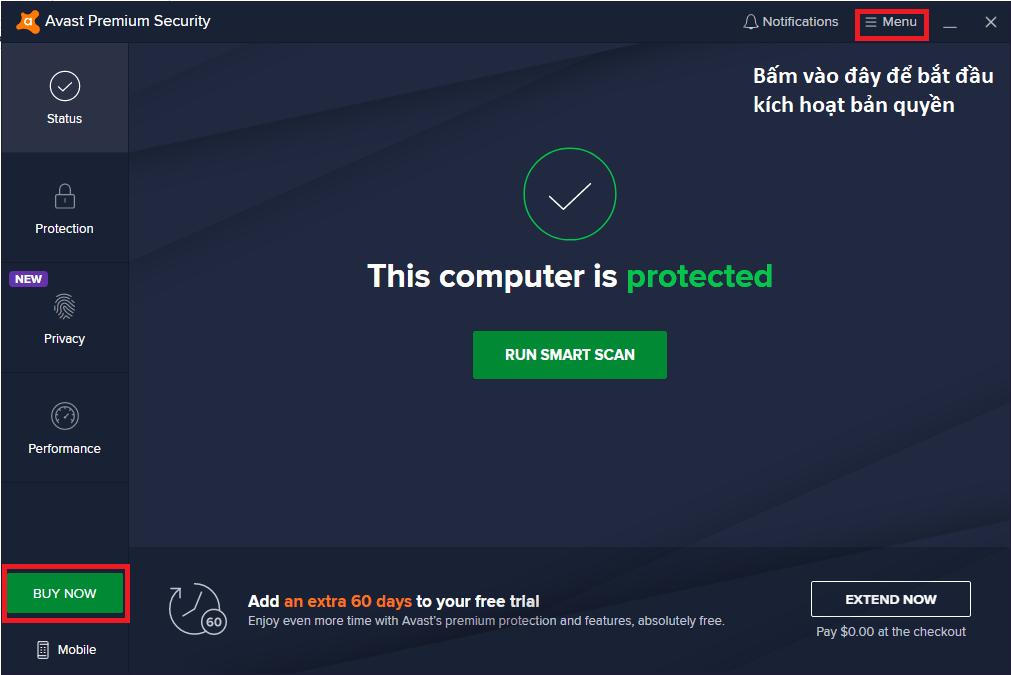 Avast Premium Security 2021 File License Key Đến Năm 2026