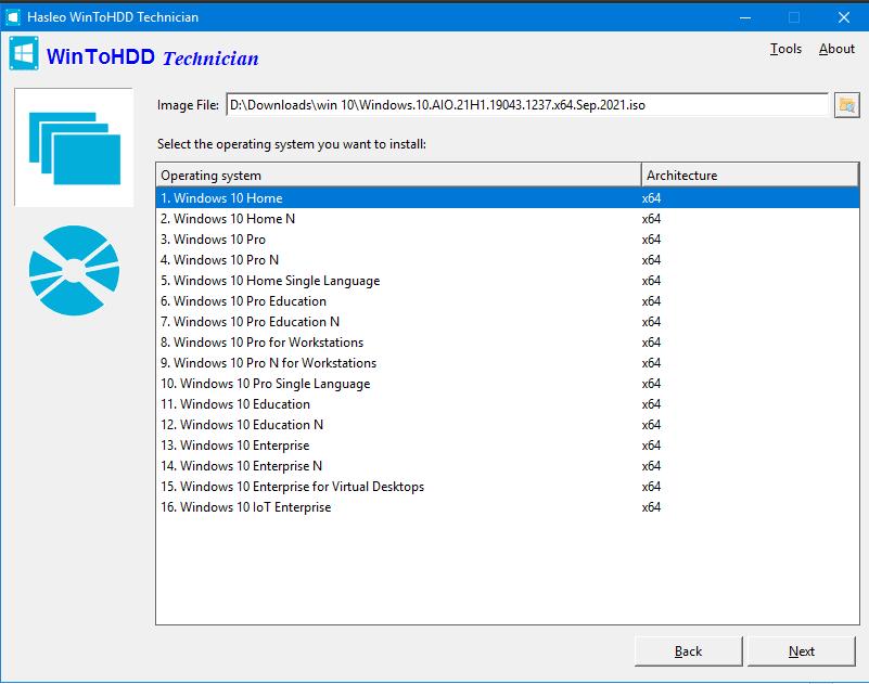 Cài Windows Trực Tiếp Từ Ổ Cứng | WinToHDD 5.4 Full