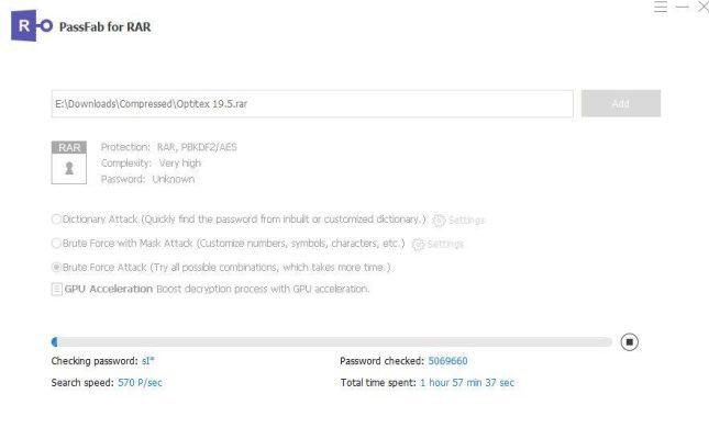 Công cụ phá Password Winrar