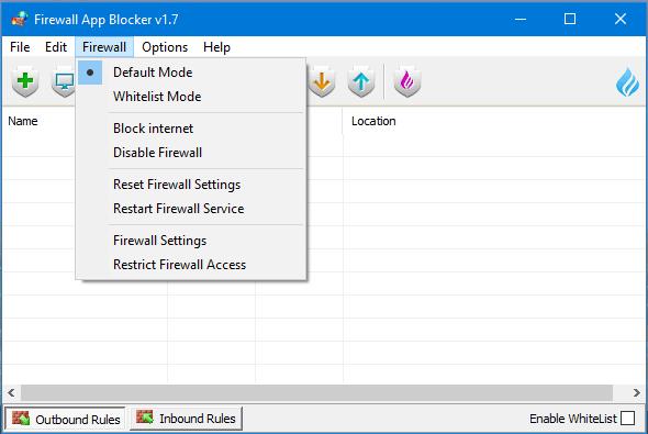 Chặn Phần Mềm Truy Cập Internet   Firewall App Blocker 1.7