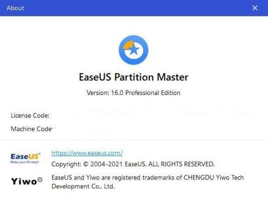 EaseUS Partition Master Pro 16.0 | Quản lý phân vùng