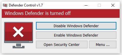Tắt Windows Defender Security Center