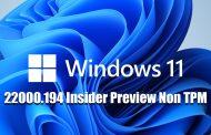 Windows 11 Pro Full 22000.194 Insider Preview Non TPM