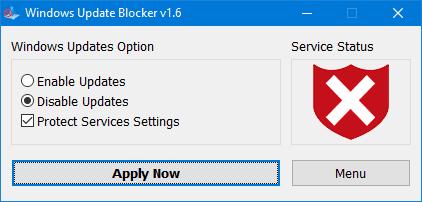 Tắt Update Windows 10
